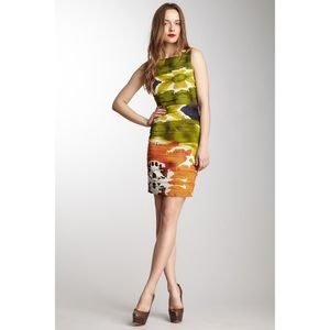 Alice + Olivia Valerie Ruched Fitted Silk Dress 6